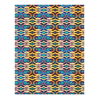 Multicolored Abstract Chains. Geometric Pattern Flyer