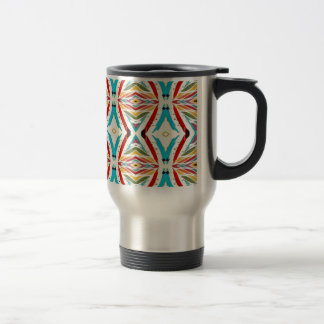 Multicolored Abstract Chains. Geometric Pattern Mugs
