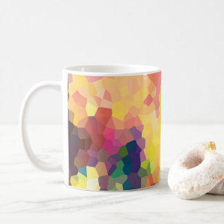 Multicolored Abstract Crystals Geometric Pattern Coffee Mug