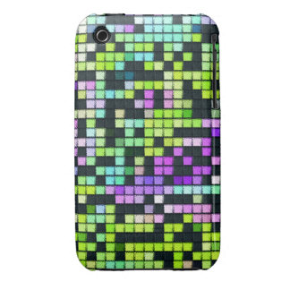 Multicolored abstract fabric square pattern iPhone 3 Case-Mate cases