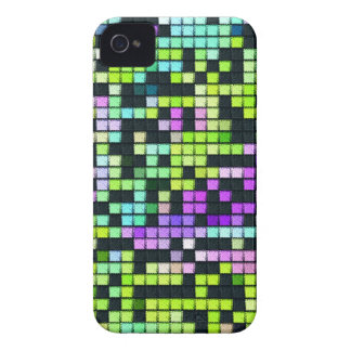 Multicolored abstract fabric square pattern iPhone 4 cover