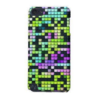 Multicolored abstract fabric square pattern iPod touch (5th generation) covers