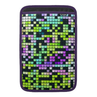 Multicolored abstract fabric square pattern sleeve for MacBook air