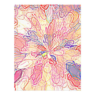 Multicolored Abstract Flower Design Flyer