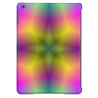 Multicolored abstract flower pattern cover for iPad air