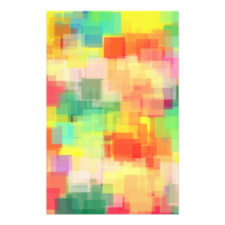 Multicolored Abstract Geometric Pattern Personalized Flyer