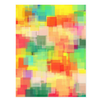 Multicolored Abstract Geometric Pattern Postcard
