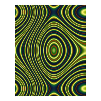 Multicolored abstract line flyers