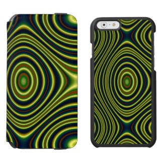 Multicolored abstract line pattern incipio watson™ iPhone 6 wallet case