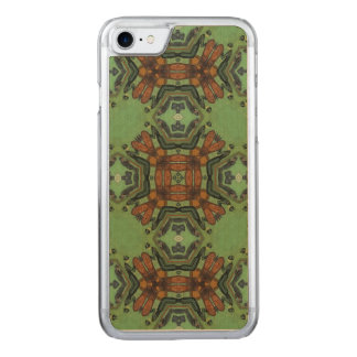Multicolored Abstract Pattern Carved iPhone 8/7 Case
