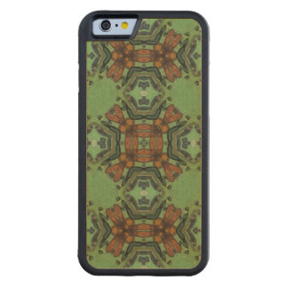 Multicolored Abstract Pattern Carved Maple iPhone 6 Bumper Case