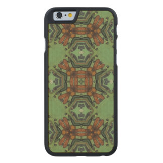 Multicolored Abstract Pattern Carved Maple iPhone 6 Case