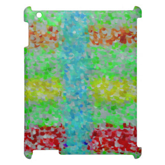 Multicolored abstract pattern cover for the iPad 2 3 4