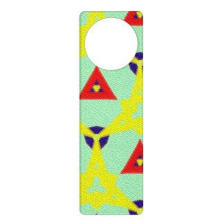 Multicolored abstract pattern door hanger