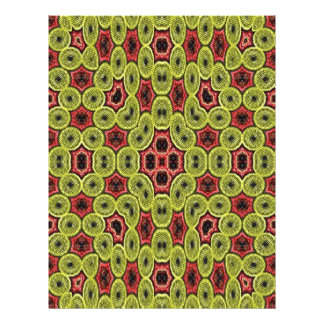 Multicolored abstract pattern 21.5 cm x 28 cm flyer