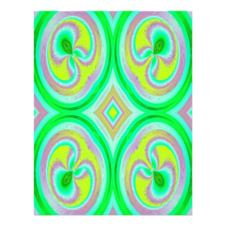 Multicolored abstract pattern flyer design