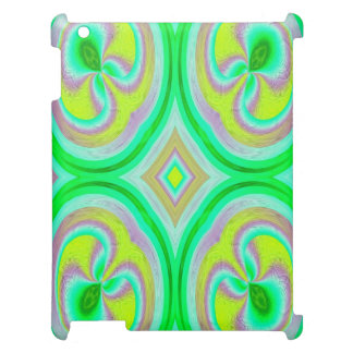 Multicolored abstract pattern iPad case