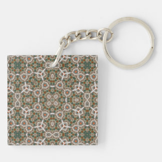 Multicolored Abstract Pattern Key Chain