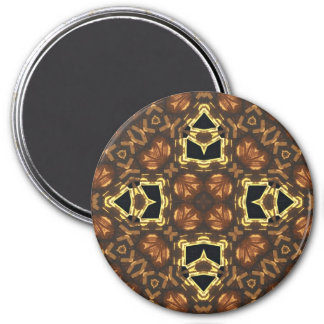 Multicolored Abstract Pattern Refrigerator Magnet