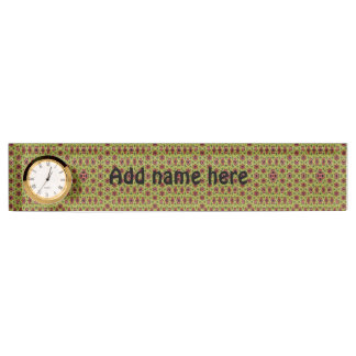 Multicolored abstract pattern nameplate