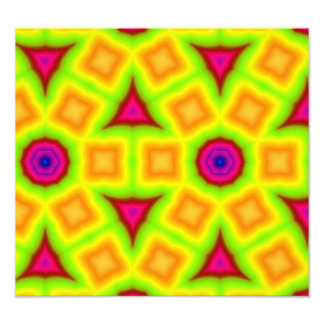 Multicolored abstract pattern photographic print