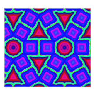 Multicolored Abstract Pattern Photo Print