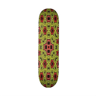 Multicolored abstract pattern 21.6 cm old school skateboard deck