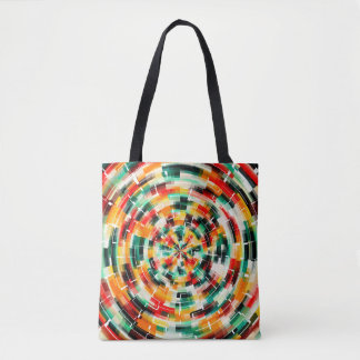 Multicolored Abstract Pattern Tote Bag