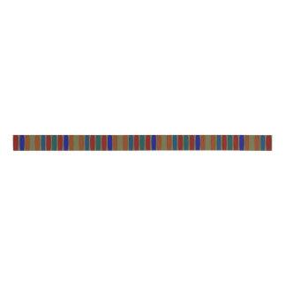 Multicolored Abstract Striped Ribbon Grosgrain Ribbon