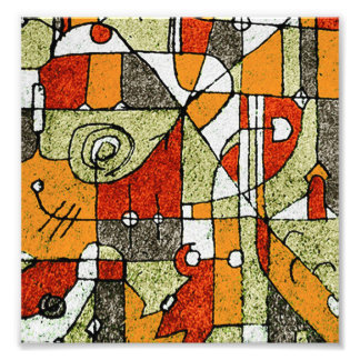 Multicolored Abstract Tribal Print Photo Art