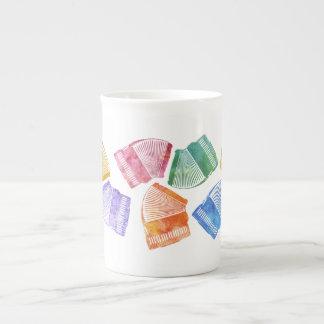 Multicolored Accordions Bone China Mug