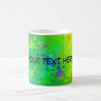 Multicolored and colorful color splash basic white mug