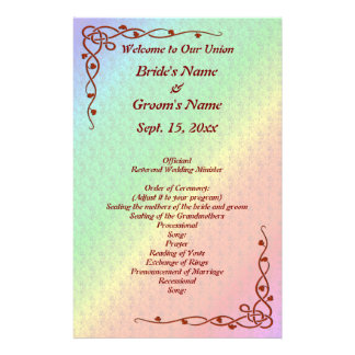 Multicolored Angled Flower Pattern Wedding Flyer
