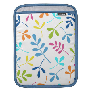 Multicolored Assorted Leaves Design iPad Sleeves