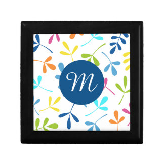 Multicolored Assorted Leaves Design (Personalized) Gift Box