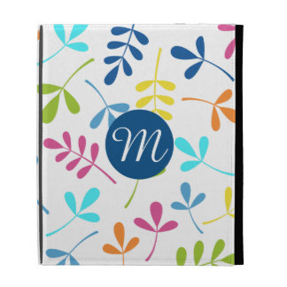 Multicolored Assorted Leaves Lg Ptn (Personalized) iPad Case