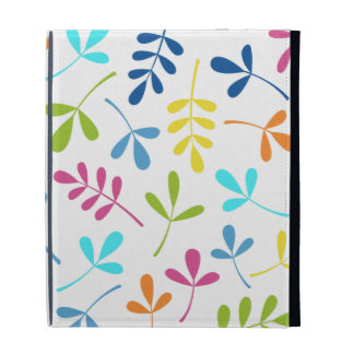 Multicolored Assorted Leaves Pattern iPad Case