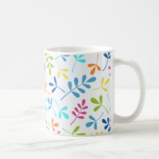 Multicolored Assorted Leaves Pattern Coffee Mug