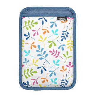Multicolored Assorted Leaves Pattern iPad Mini Sleeve