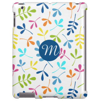 Multicolored Assorted Leaves Ptn (Personalized) iPad Case