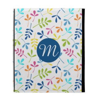Multicolored Assorted Leaves Ptn (Personalized) iPad Folio Cover
