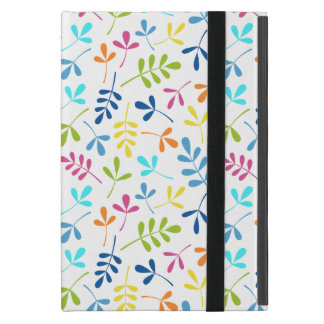 Multicolored Assorted Leaves Repeat Pattern Covers For iPad Mini