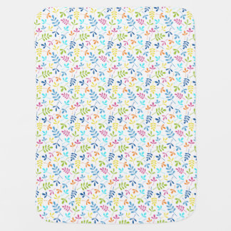 Multicolored Assorted Leaves Small Pattern Buggy Blanket