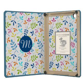 Multicolored Asstd Leaves Rpt Ptn (Personalized) iPad Mini Covers