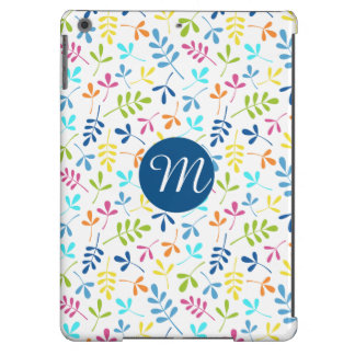 Multicolored Asstd Leaves Rpt Ptn (Personalized) iPad Air Covers