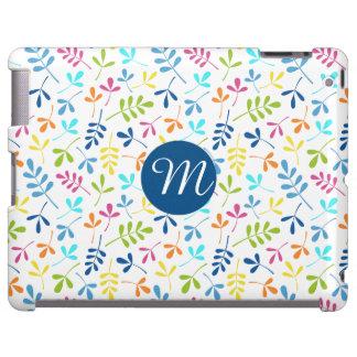 Multicolored Asstd Leaves Rpt Ptn (Personalized) iPad Case