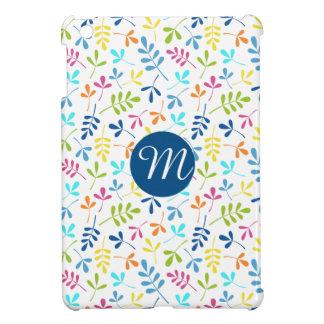 Multicolored Asstd Leaves Rpt Ptn (Personalized) iPad Mini Cover