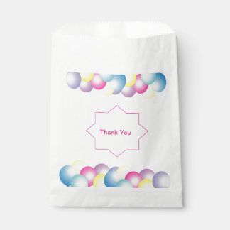 Multicolored balloon Birthday party themed Favour Bags