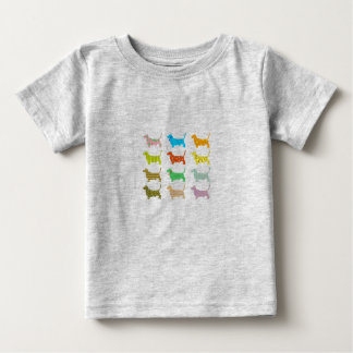 Multicolored bassets kid's T-shirt