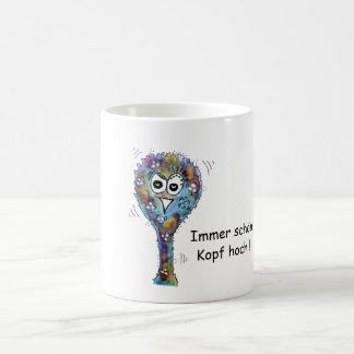 Multicolored bird bunch with saying coffee mug